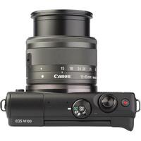 Canon EOS M100 + EF-M 15-45 mm IS STM - Vue du dessus