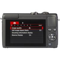 Canon EOS M100 + EF-M 15-45 mm IS STM - Vue de dos