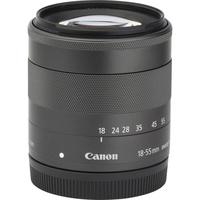 Canon EOS M3 + EF-M 18-55 mm IS STM - Vue de l'objectif