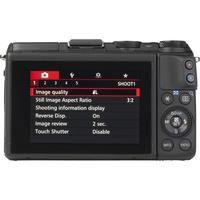 Canon EOS M3 + EF-M 18-55 mm IS STM - Vue de dos