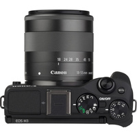 Canon EOS M3 + EF-M 18-55 mm IS STM - Vue du dessus