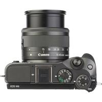 Canon EOS M6 + EF-M 15-45 mm IS STM - Vue du dessus