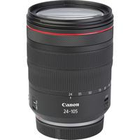 Canon EOS R + RF 24-105 mm L IS USM - Vue de l'objectif