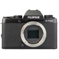 Fujifilm X-T100 + Fujinon Super EBC XC 15-45 mm OIS PZ - Vue de face sans objectif