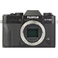 Fujifilm X-T20 + Fujinon Super EBC XF 18-55 mm R LM OIS - Vue de face sans objectif