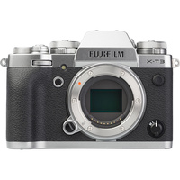 Fujifilm X-T3 + Fujinon Super EBC XF 18-55 mm R LM OIS - Vue de face sans objectif