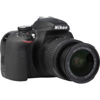 Nikon D3400 + AF-P DX Nikkor 18-55 mm G VR - Vue de 3/4 vers la droite