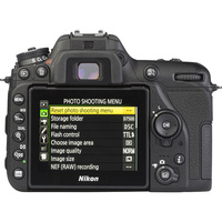 Nikon D7500 + AF-S DX Nikkor 18-140 mm G ED VR - Vue de dos