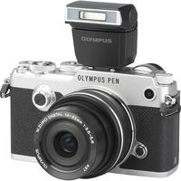 Olympus Pen-F + M. Zuiko Digital 14-42 mm EZ ED MSC - Vue principale