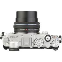 Olympus Pen-F + M. Zuiko Digital 14-42 mm EZ ED MSC - Vue du dessus