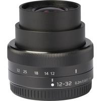 Panasonic Lumix DC-GX9 + Lumix G Vario 12-32 mm Mega OIS - Vue de l'objectif