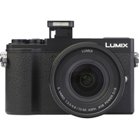 Panasonic Lumix DC-GX9 + Lumix G Vario 12-60 mm Power OIS - Vue de face