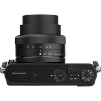 Panasonic Lumix DMC-GM1 + Lumix G Vario 12-32 mm - Vue du dessus