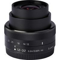 Panasonic Lumix DMC-GM1 + Lumix G Vario 12-32 mm - Vue de l'objectif