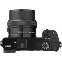 Sony ILCE-6000 + 16-50 mm SELP1650 - Vue du dessus