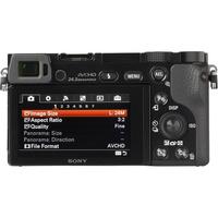 Sony ILCE-6000 + 18-200 mm SEL18200 - Vue du dessus