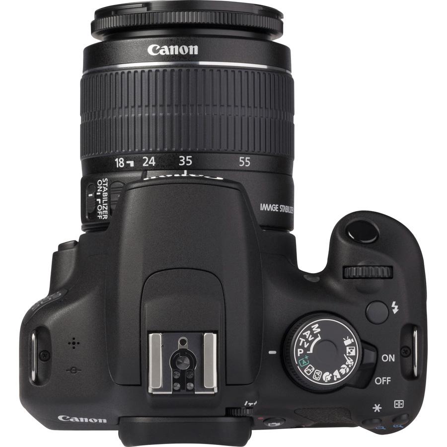 Canon EOS 1200D + EF-S 18-55 mm IS II - Vue du dessus