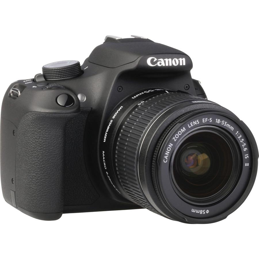 Canon EOS 1200D + EF-S 18-55 mm IS II - Vue de 3/4 vers la droite