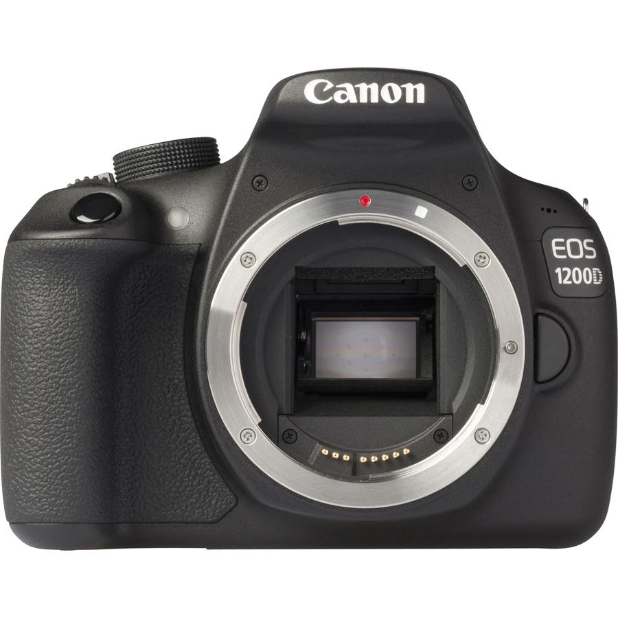 Canon EOS 1200D + EF-S 18-55 mm IS II - Vue de face sans objectif