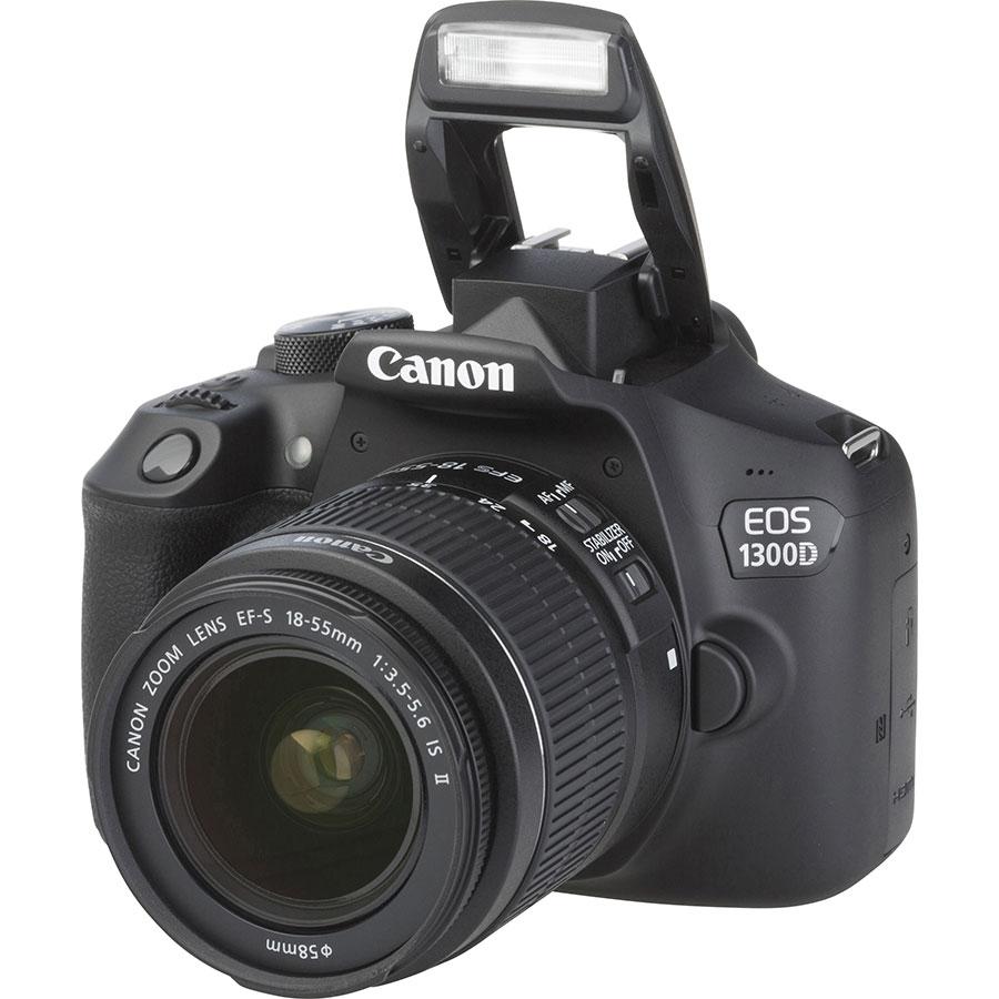 Canon EOS 1300D + EF-S 18-55 mm IS II - Vue principale