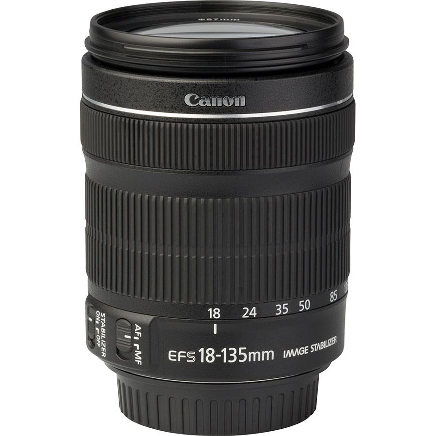 Canon EOS 250D + EF-S 18-135 mm IS STM - Vue de l'objectif