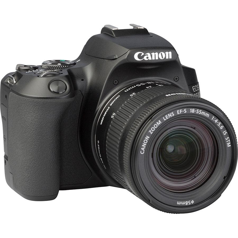 Canon EOS 250D + EF-S 18-55 mm IS STM - Vue de 3/4 vers la droite