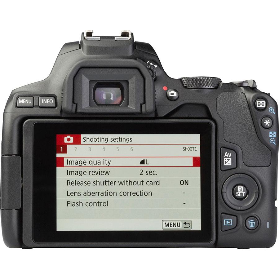 Canon EOS 250D + EF-S 18-55 mm IS STM - Vue de dos