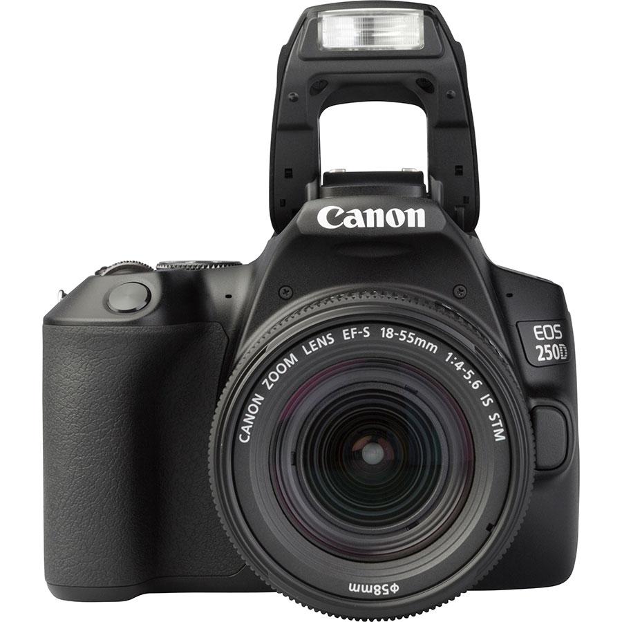 Canon EOS 250D + EF-S 18-55 mm IS STM - Vue de face