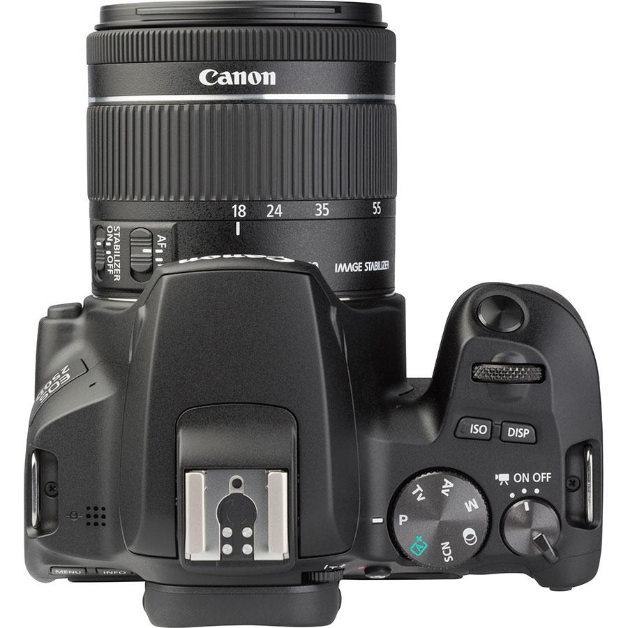 Canon EOS 250D + EF-S 18-55 mm IS STM - Vue du dessus