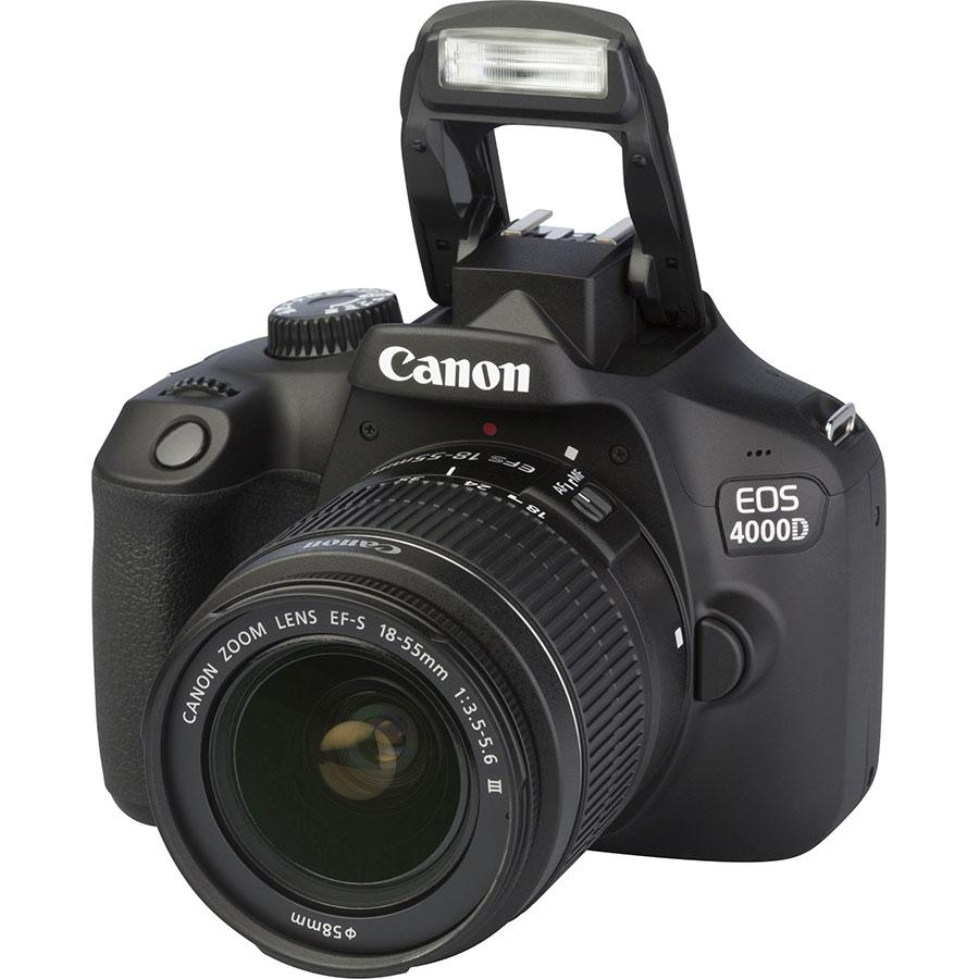 Canon EOS 4000D + EF-S 18-55 mm III - Vue principale