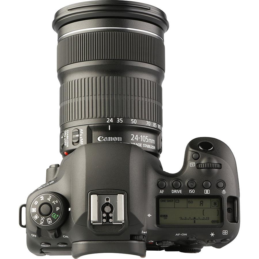 Canon EOS 6D Mark II + EF 24-105 mm IS STM - Vue du dessus