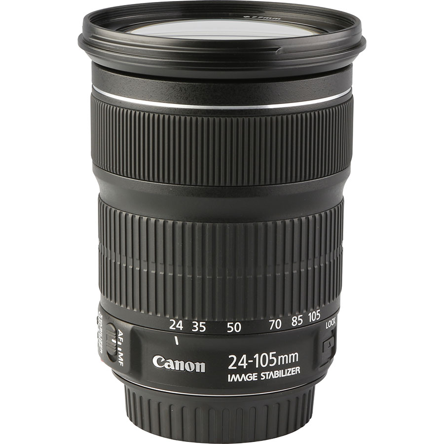 Canon EOS 6D Mark II + EF 24-105 mm IS STM - Vue de l'objectif