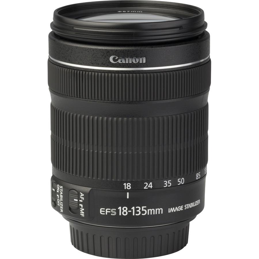 Canon EOS 750D + EF-S 18-135 mm IS STM - Vue de l'objectif
