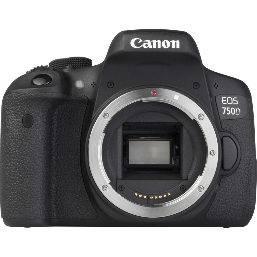 Canon EOS 750D + EF-S 18-55 mm IS STM - Vue de face sans objectif