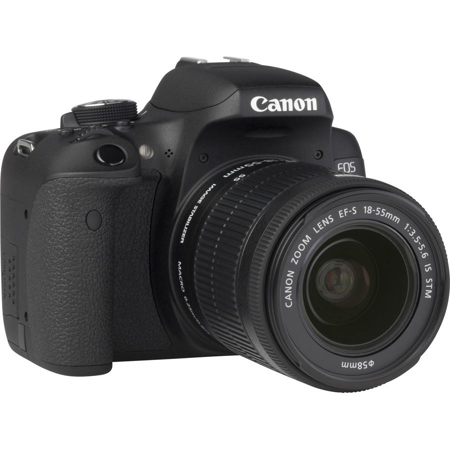 Canon EOS 750D + EF-S 18-55 mm IS STM - Vue de 3/4 vers la droite