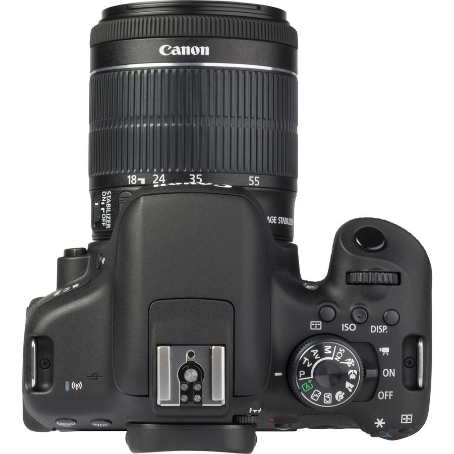 Canon EOS 750D + EF-S 18-55 mm IS STM - Vue du dessus