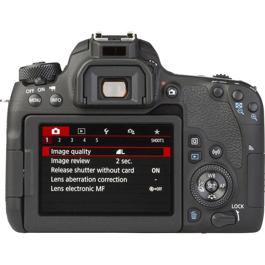Canon EOS 77D + EF-S 18-55 mm F4-5,6 IS STM - Vue de dos