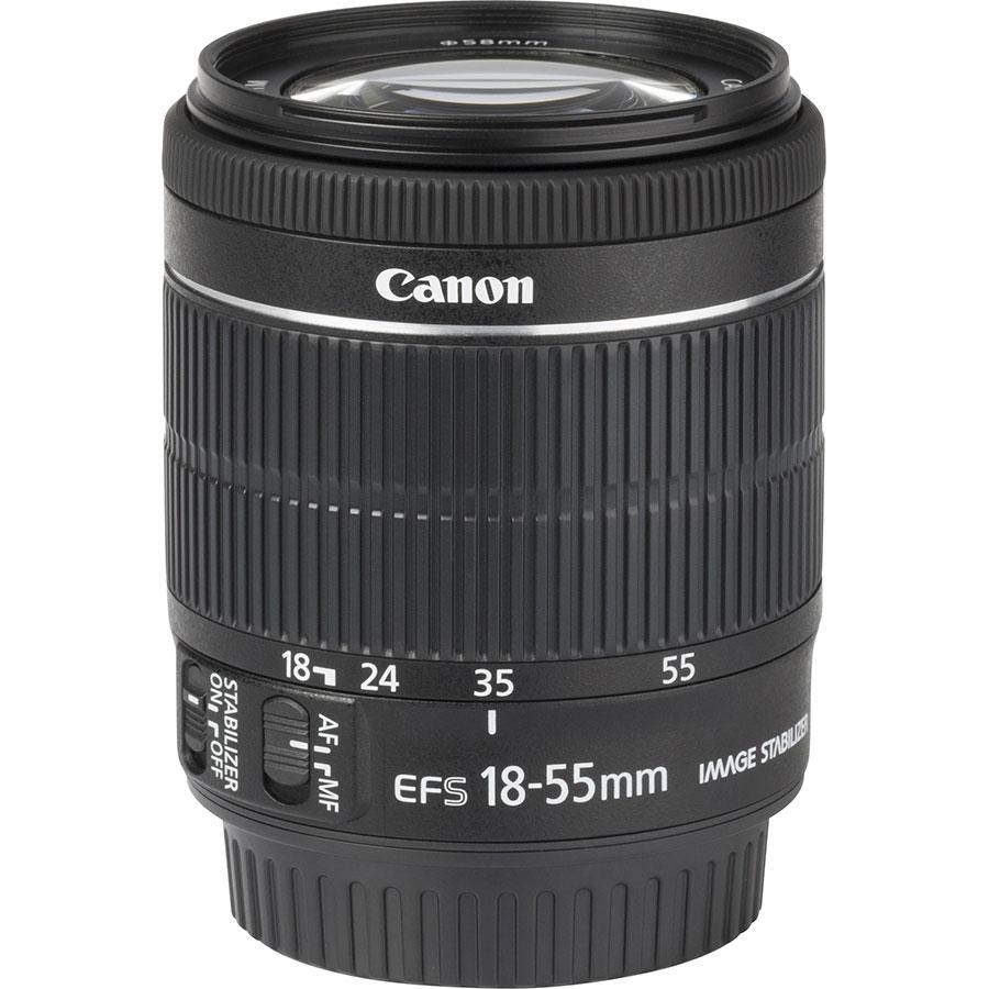 Canon EOS 77D + EF-S 18-55 mm IS STM - Vue de l'objectif