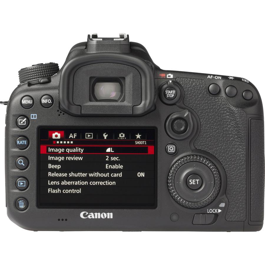 Canon EOS 7D Mark II + EF-S 15-85 mm IS USM - Vue de dos