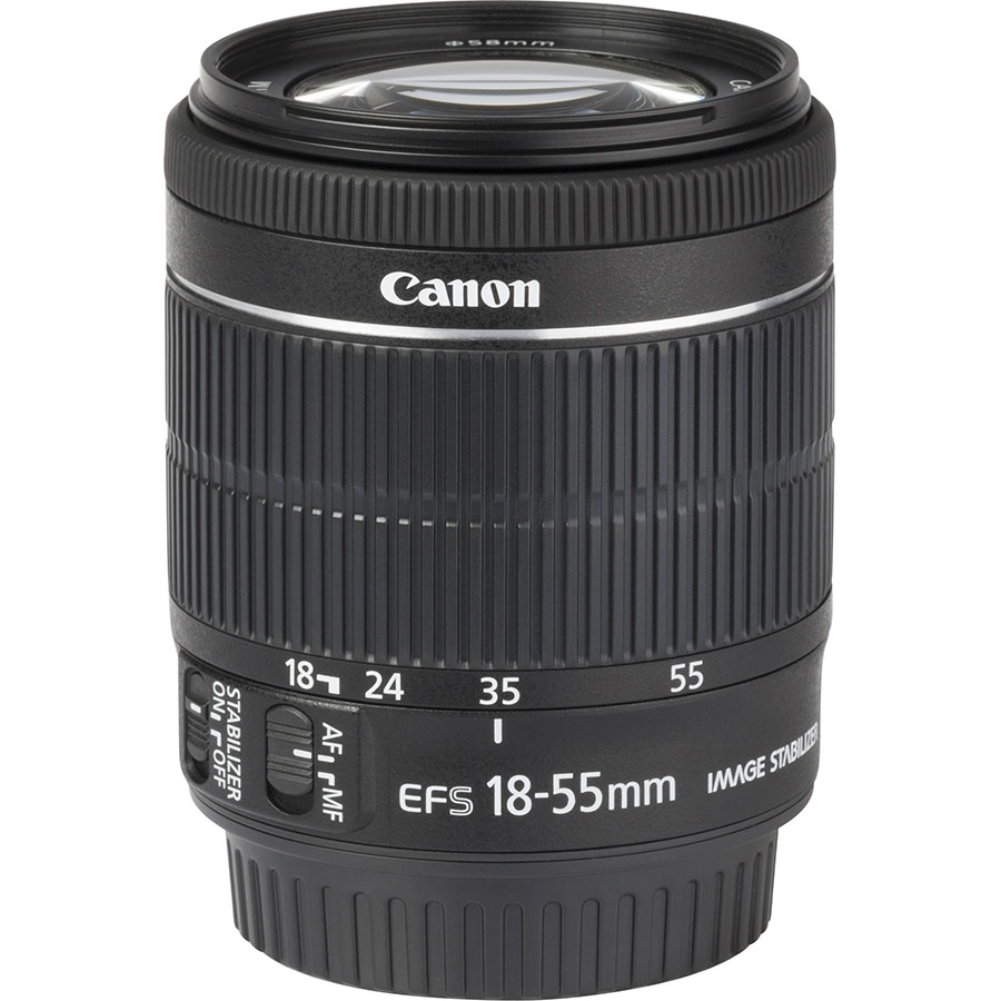 Canon EOS 7D Mark II + EF-S 18-55 mm IS STM - Vue de l'objectif