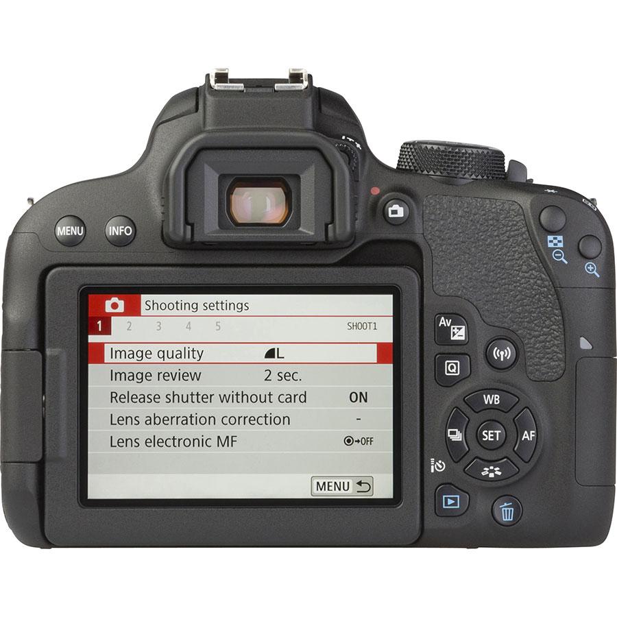 Canon EOS 800D + EF-S 18-200 mm IS - Vue de dos