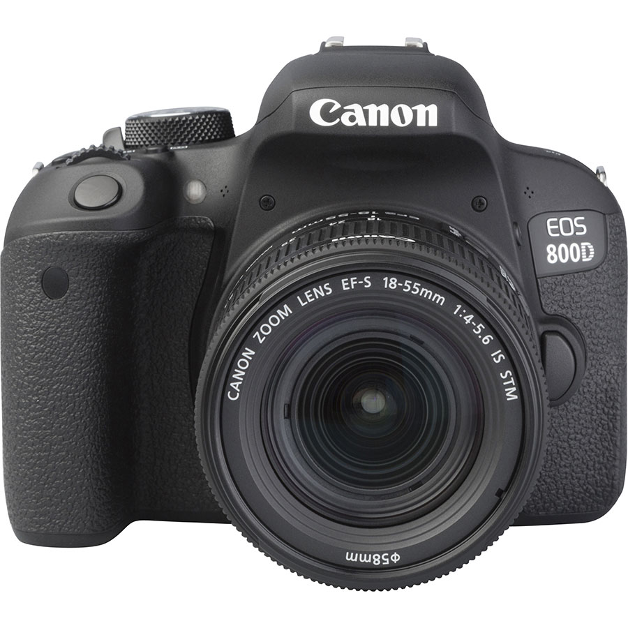 Canon EOS 800D + EF-S 18-55 mm F4-5,6 IS STM - Autre vue de face