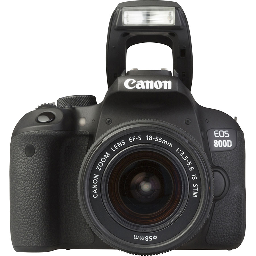 Canon EOS 800D + EF-S 18-55 mm IS STM - Vue de face
