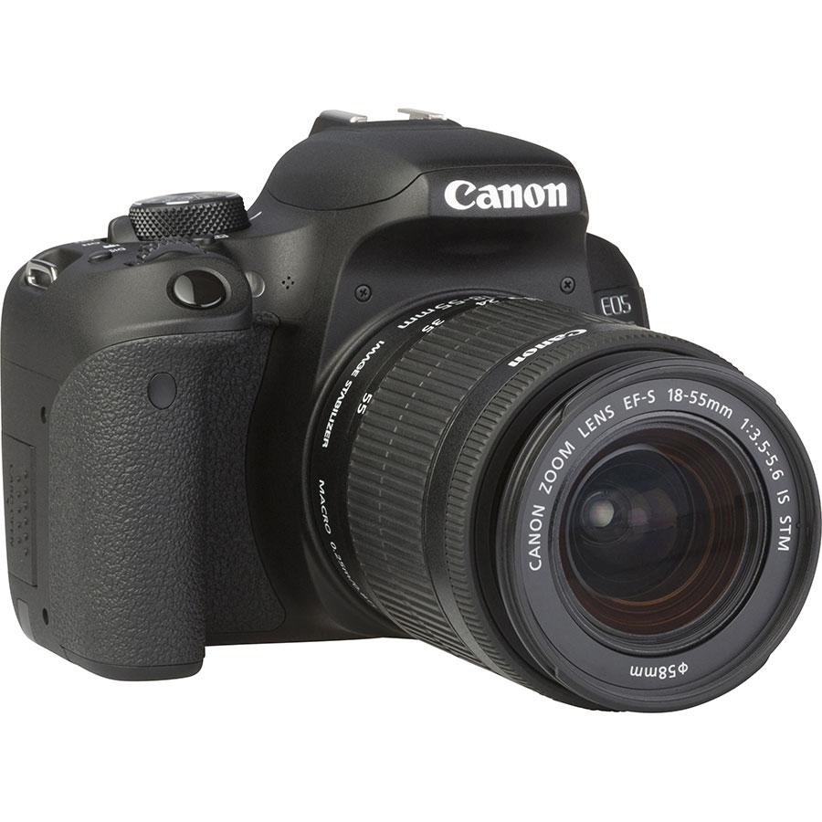 Canon EOS 800D + EF-S 18-55 mm IS STM - Vue de 3/4 vers la droite
