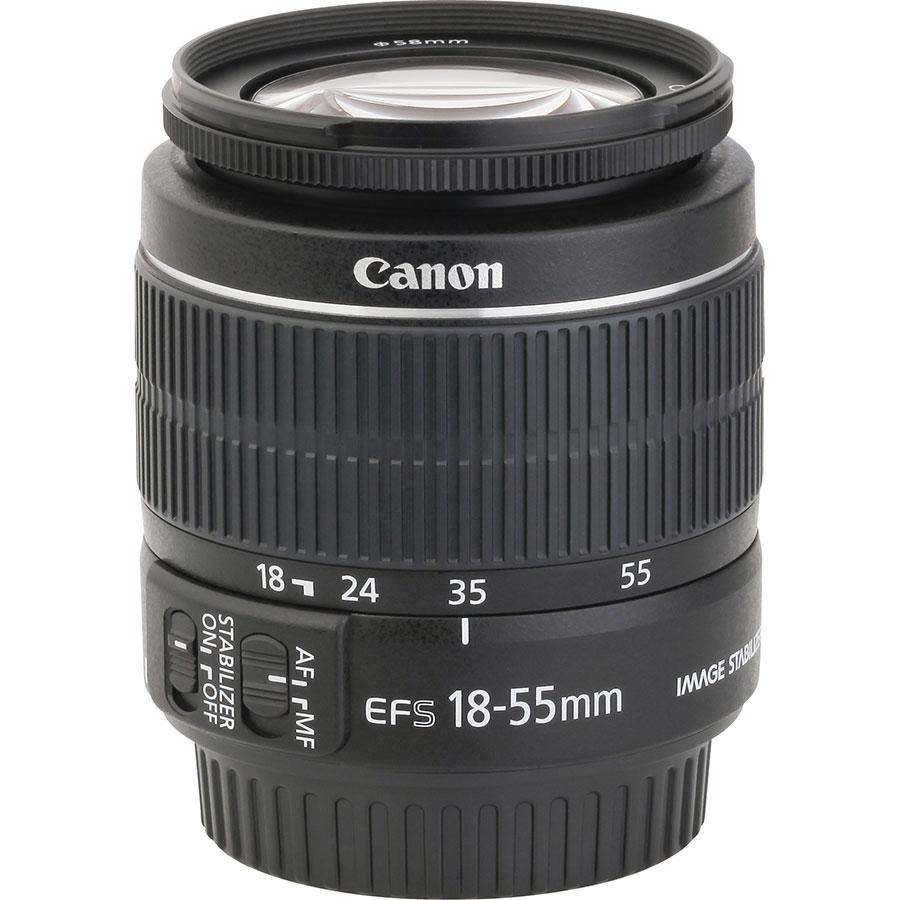 Canon EOS 80D + EF-S 18-135 mm IS USM - Vue de l'objectif