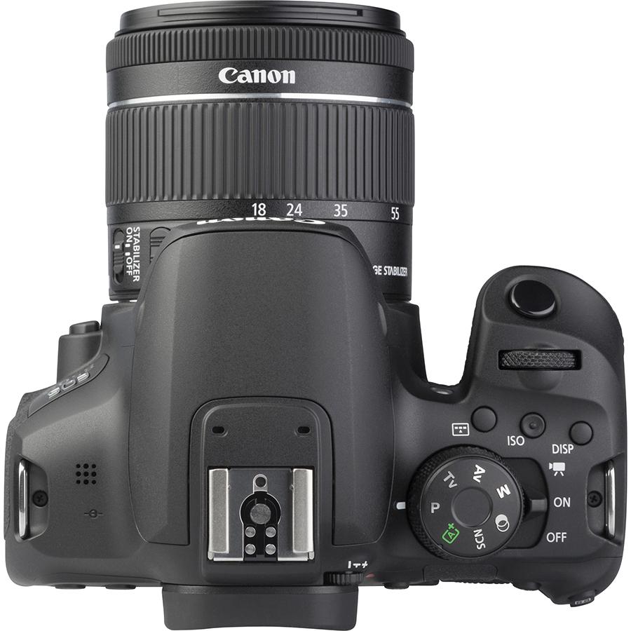 Canon EOS 850D + EF-S 18-55 mm IS STM - Vue de dessus