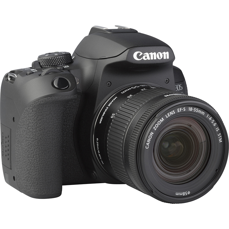 Canon EOS 850D + EF-S 18-55 mm IS STM - Vue de 3/4 vers la droite