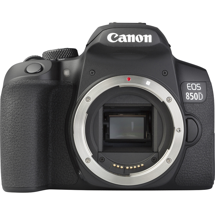 Canon EOS 850D + EF-S 18-55 mm IS STM - Vue de face sans objectif