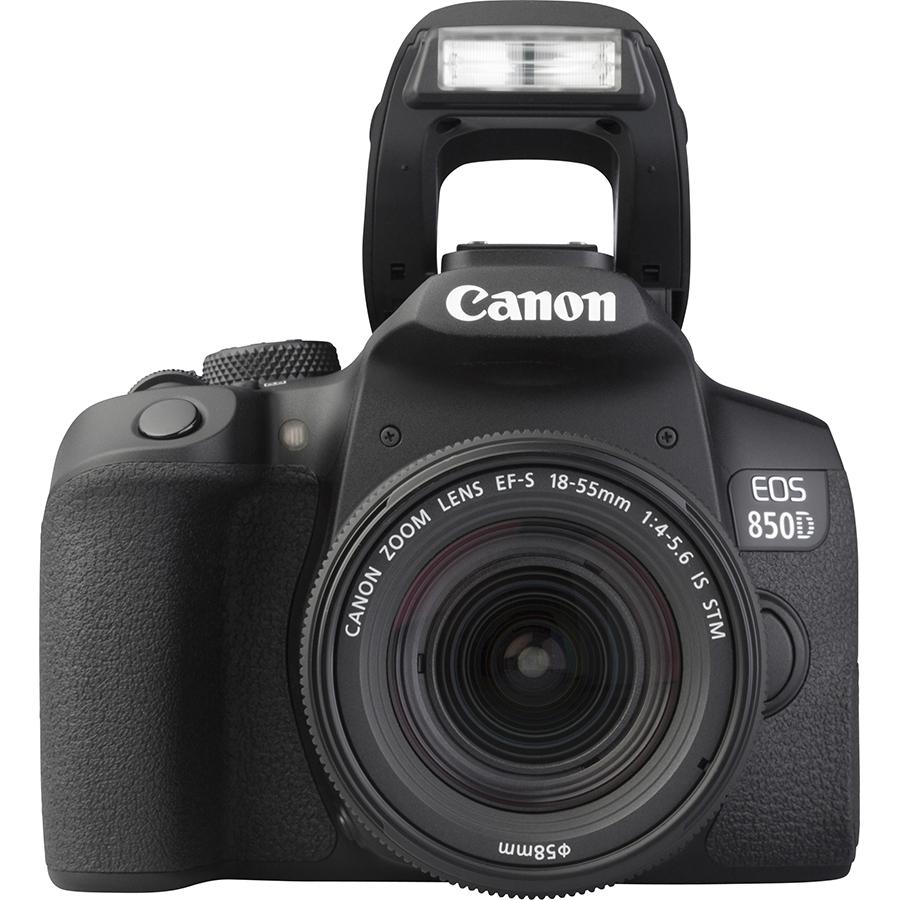 Canon EOS 850D + EF-S 18-55 mm IS STM - Vue de face