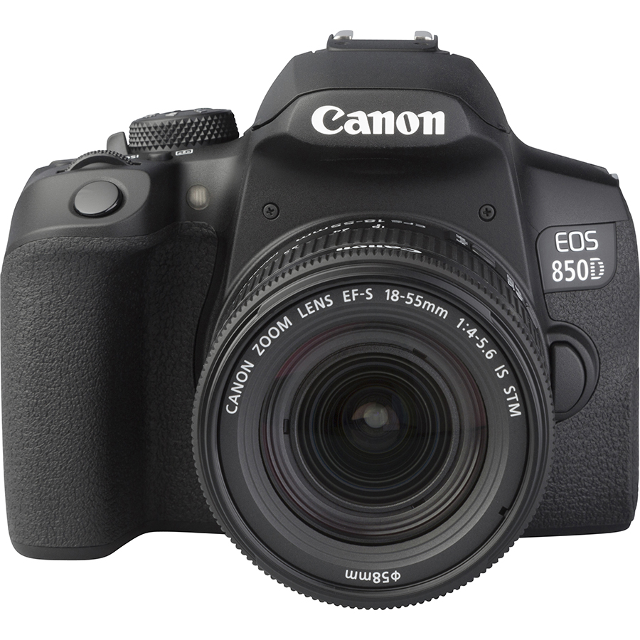 Canon EOS 850D + EF-S 18-55 mm IS STM - Autre vue de face